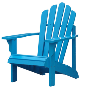 Photograph a blue chair.