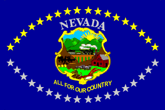 The Nevada state flag, 1915-1929