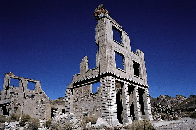 Photograph of Cook Bank Building in Rhyolite