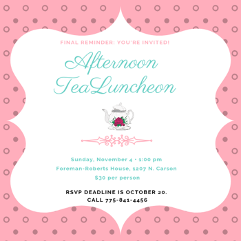 Flyer for Afternoon Tea Luncheon